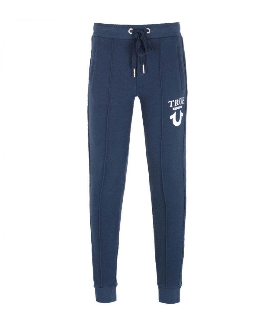 Image for True Religion Puffy Print Navy Sweatpants