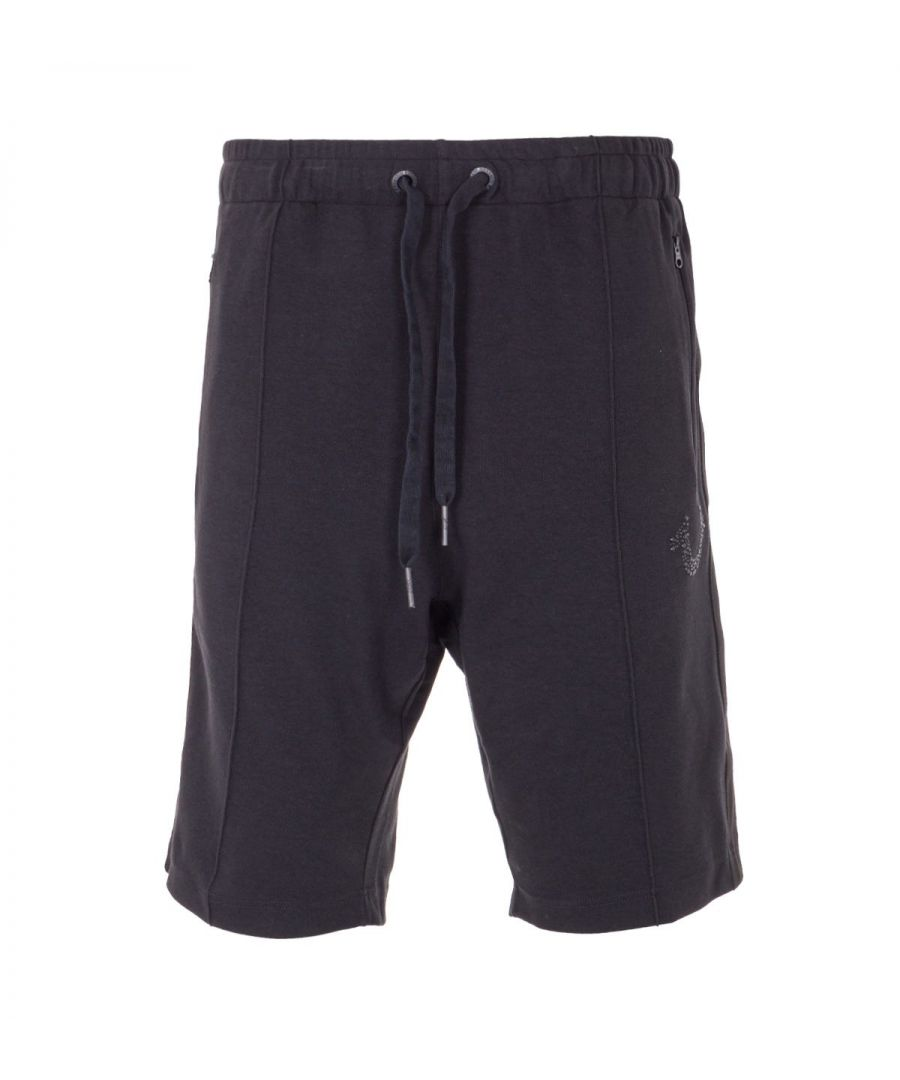 Image for True Religion Bejewelled Horseshoe Sweat Shorts - Black