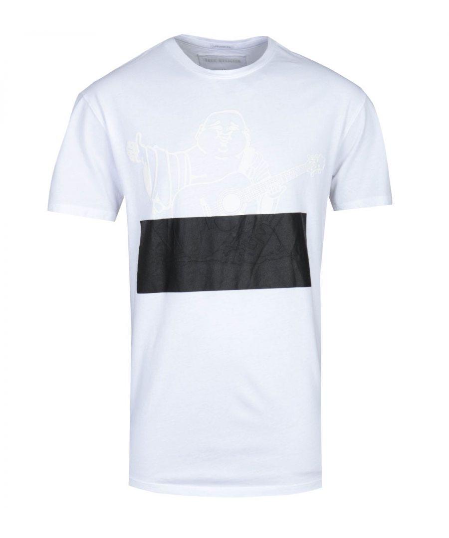 Image for True Religion Embossed Buddha White T-Shirt