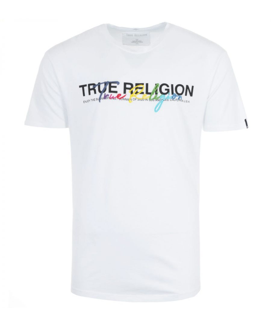 Image for True Religion Rainbow Logo T-Shirt - White