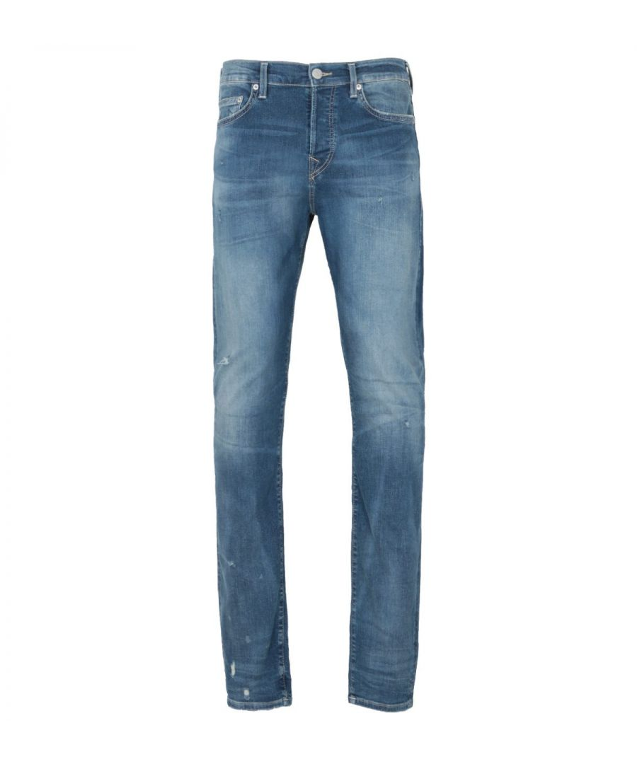 Image for True Religion Rocco Relaxed Skinny Fit Jeans - Light Blue Denim
