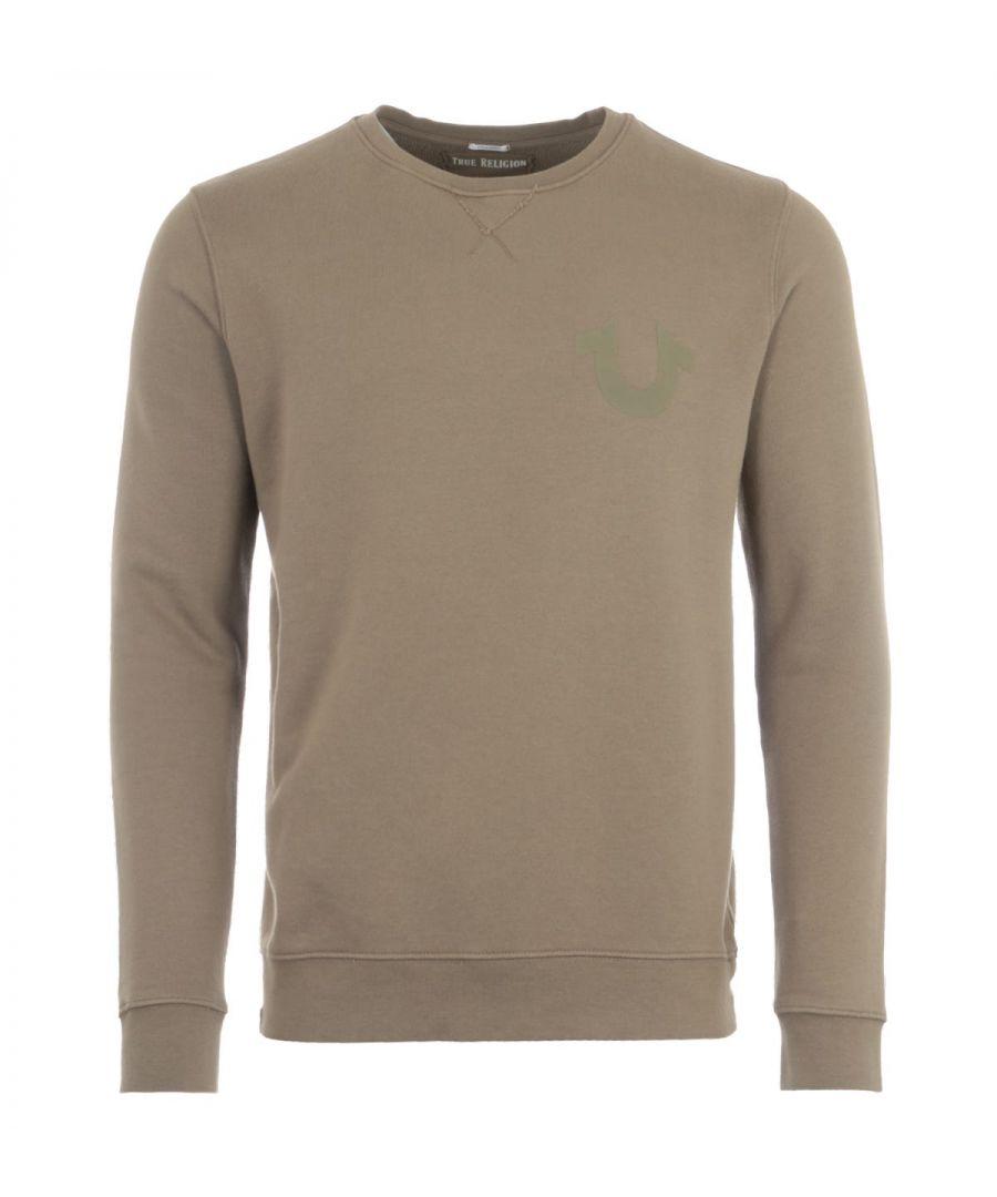 Image for True Religion Crew Neck Sweatshirt - Olive