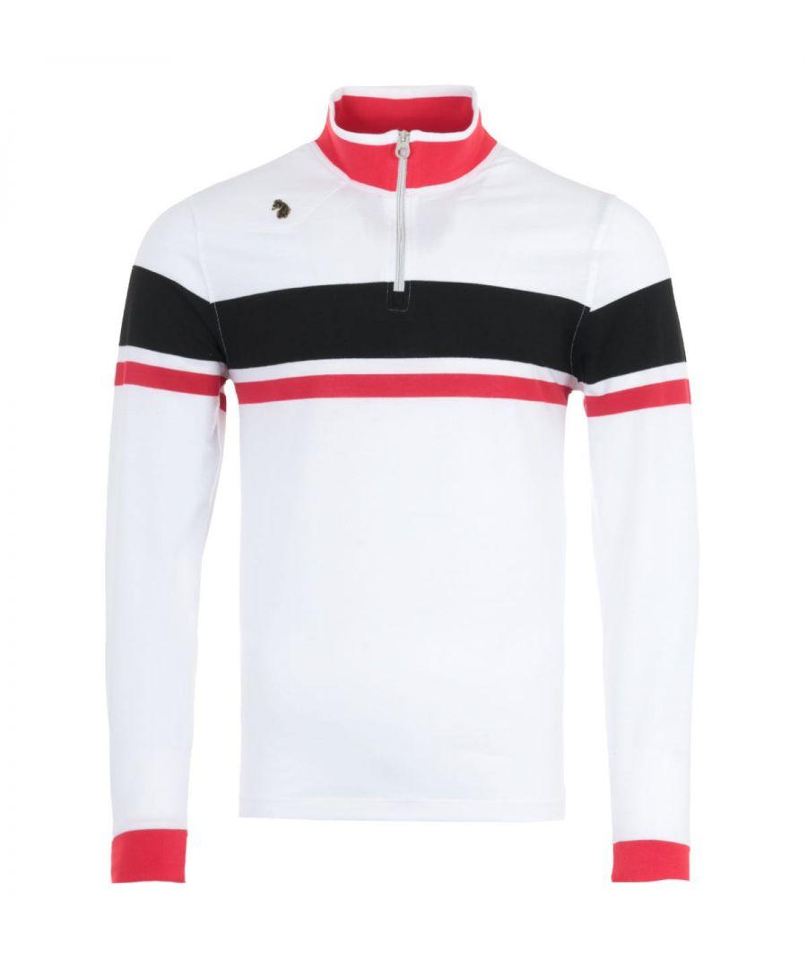 Image for Luke 1977 Aspall Quarter Zip Pique Sweatshirt - White