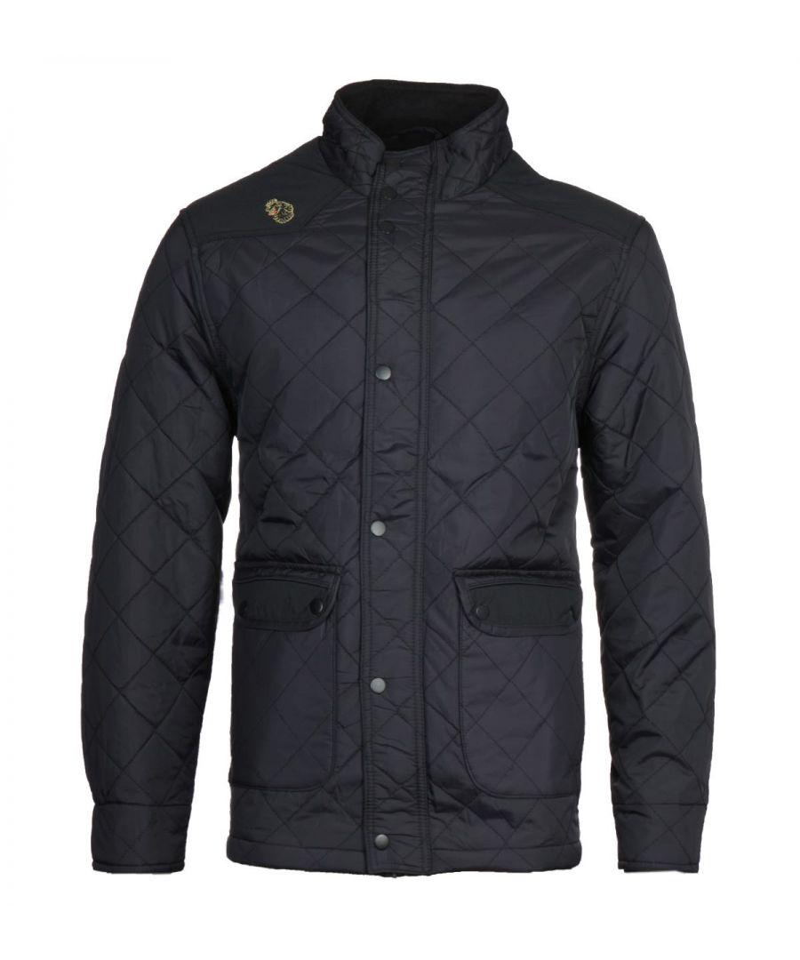 Image for Luke 1977 Black Brochet Quilted Jacket