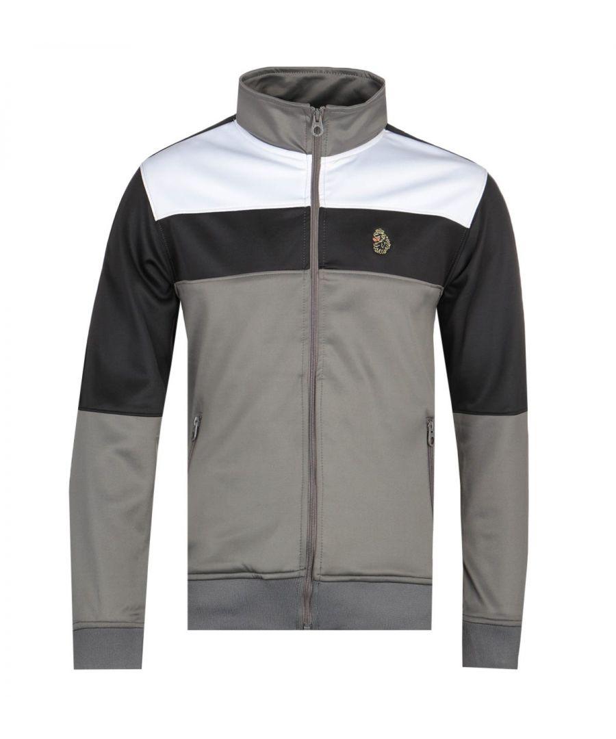 Image for Luke 1977 Odin Colour Grey Block Funnel Collar Jacket