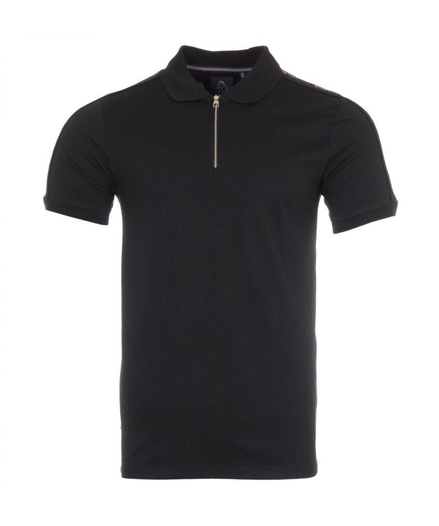 Image for Luke 1977 Black Hole Foil Print Polo Shirt - Jet Black