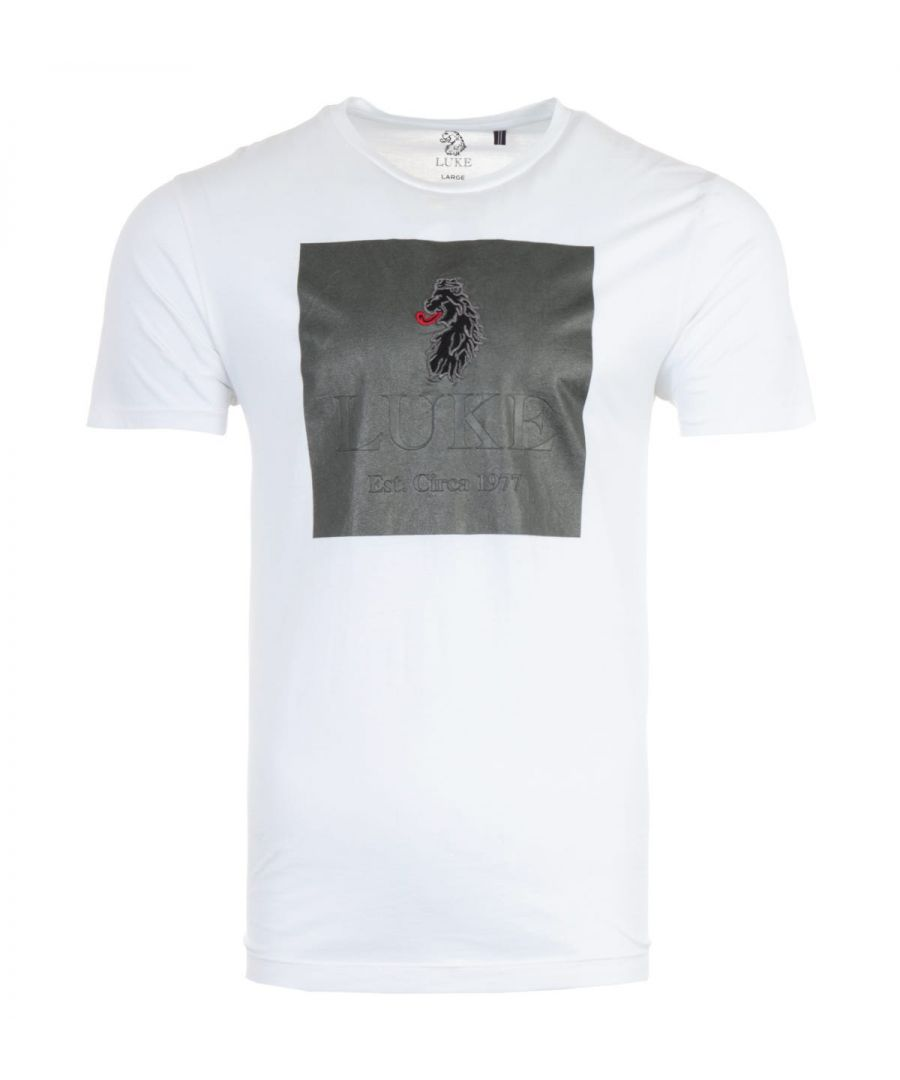 Image for Luke 1977 Invector Embroidered Lion Crew Neck T-Shirt - White