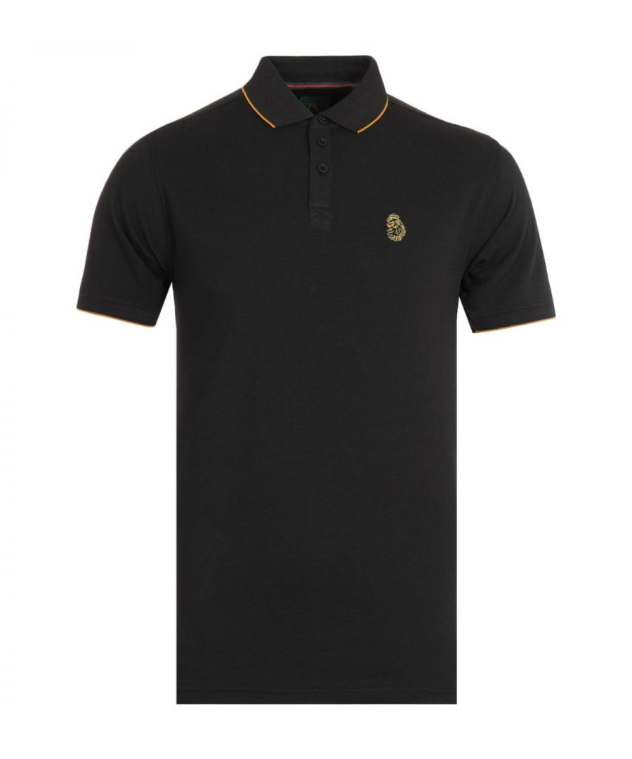 Image for Luke 1977 Ricky Gold Tipped Black Polo Shirt
