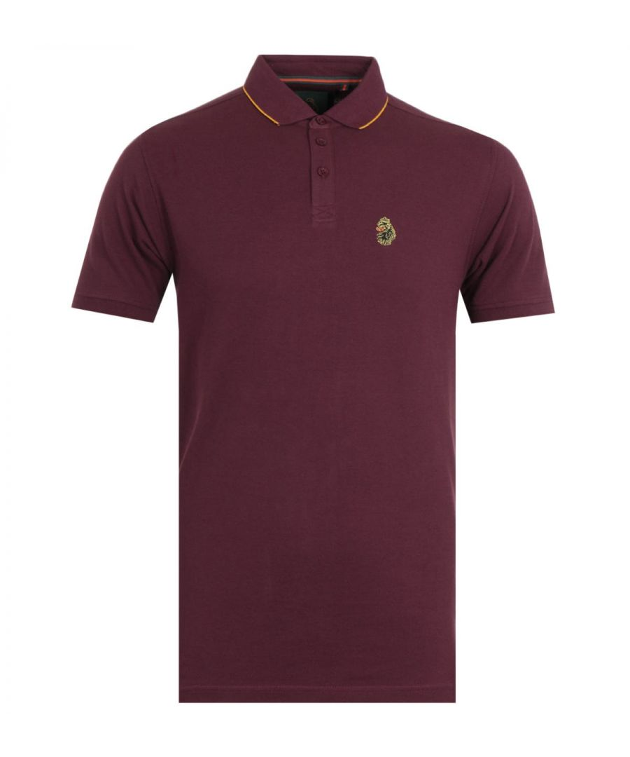 Image for Luke 1977 Ricky Gold Tipped Shiraz Polo Shirt