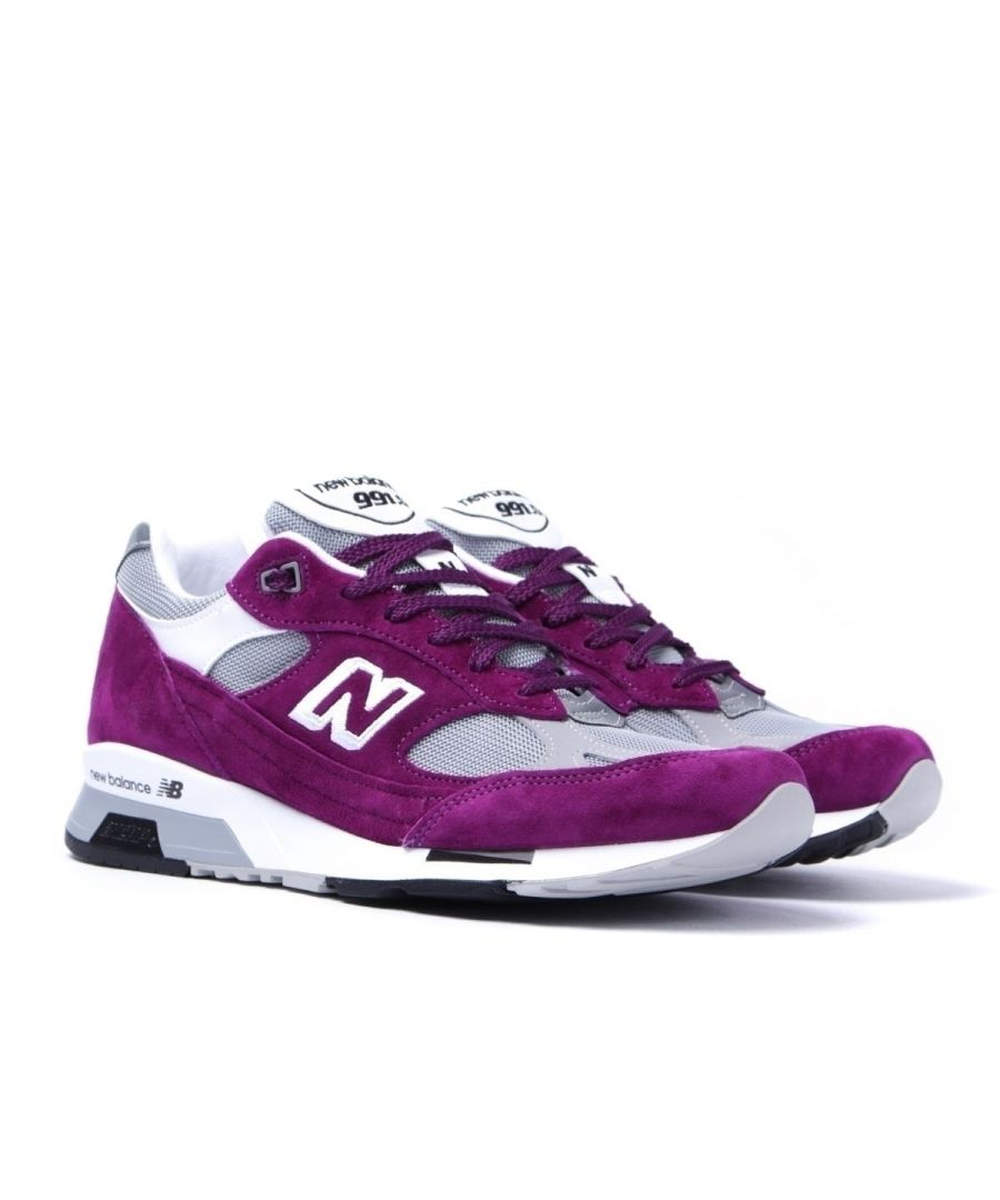 Image for New Balance M991 Purple & Grey Made In England Trainers