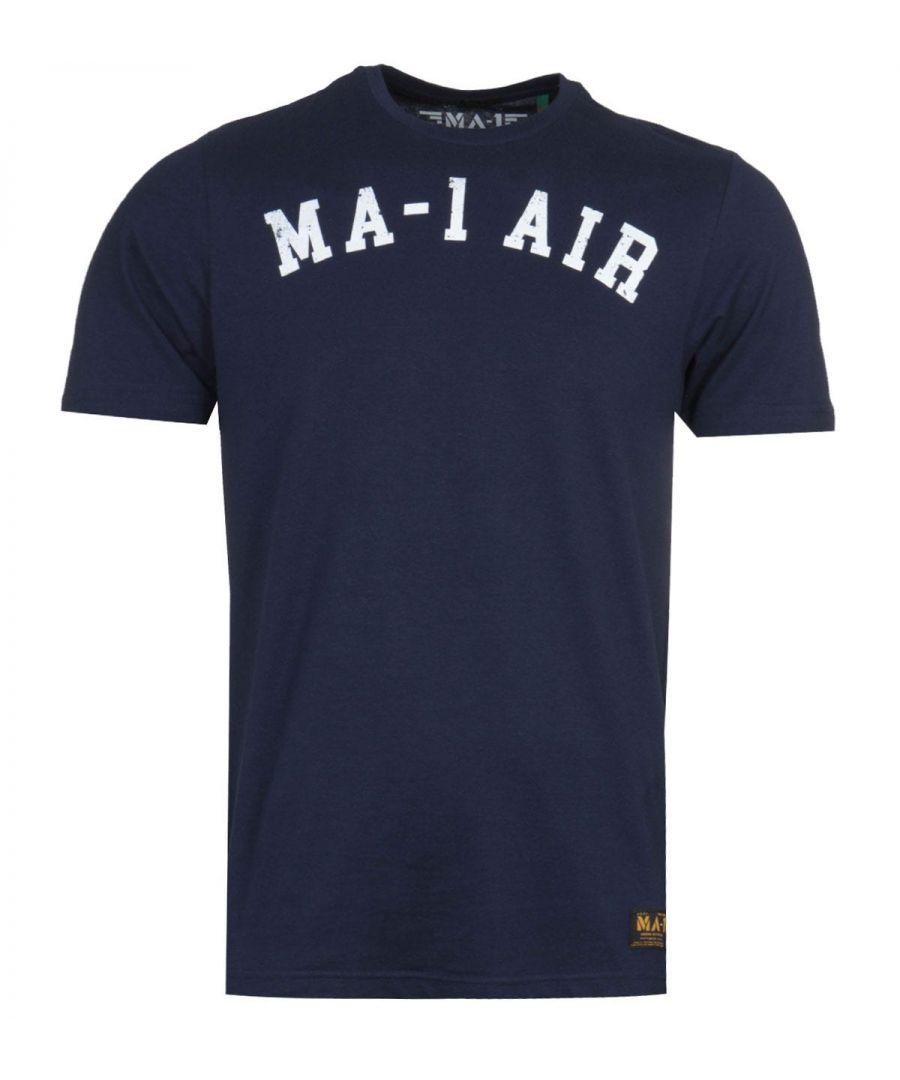 Image for MA-1 AIR Print Navy T-Shirt