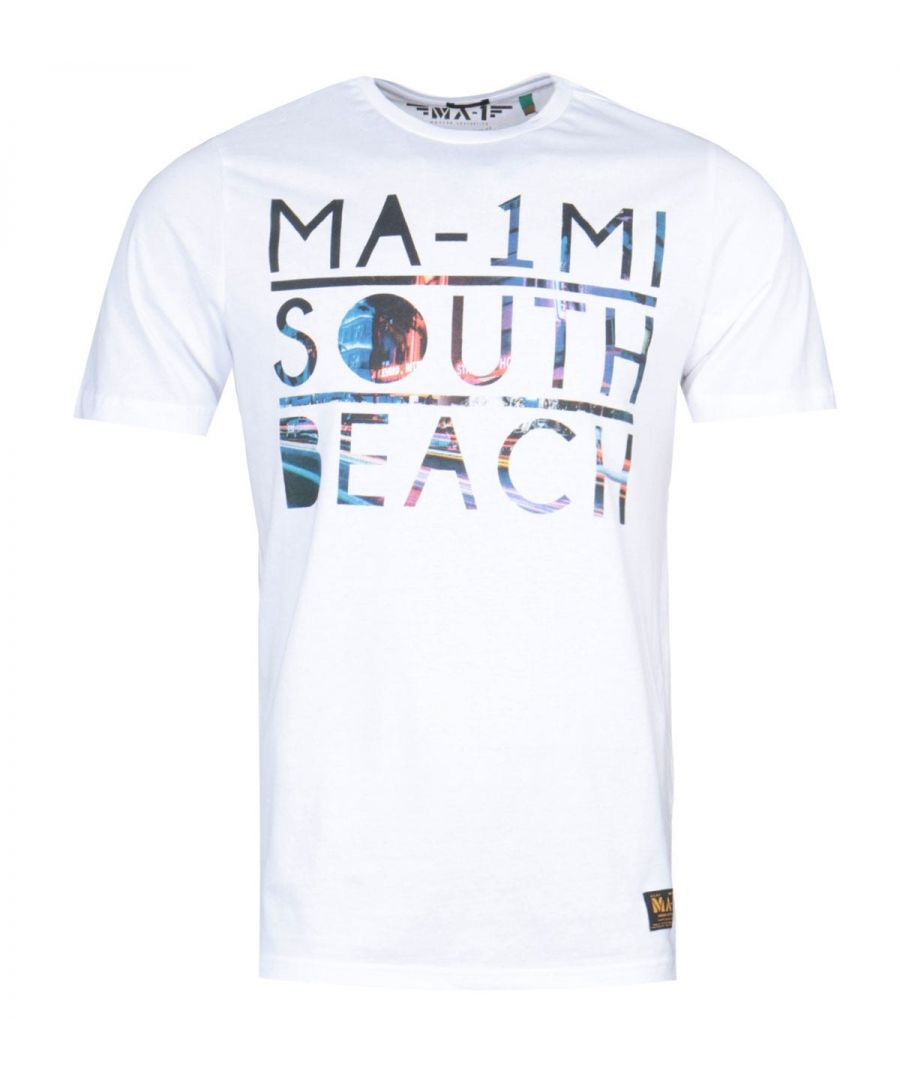 Image for MA-1 South Beach Print White T-Shirt