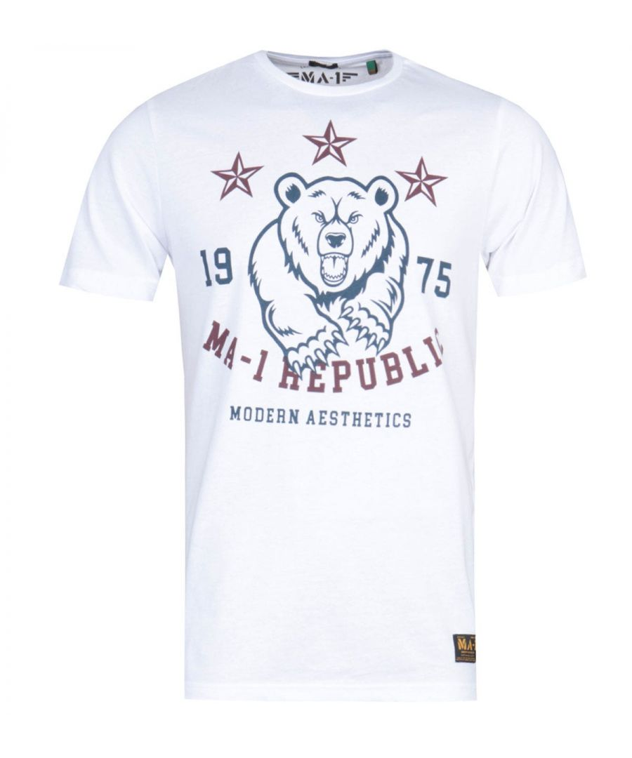 Image for MA-1 Republic Print White T-Shirt