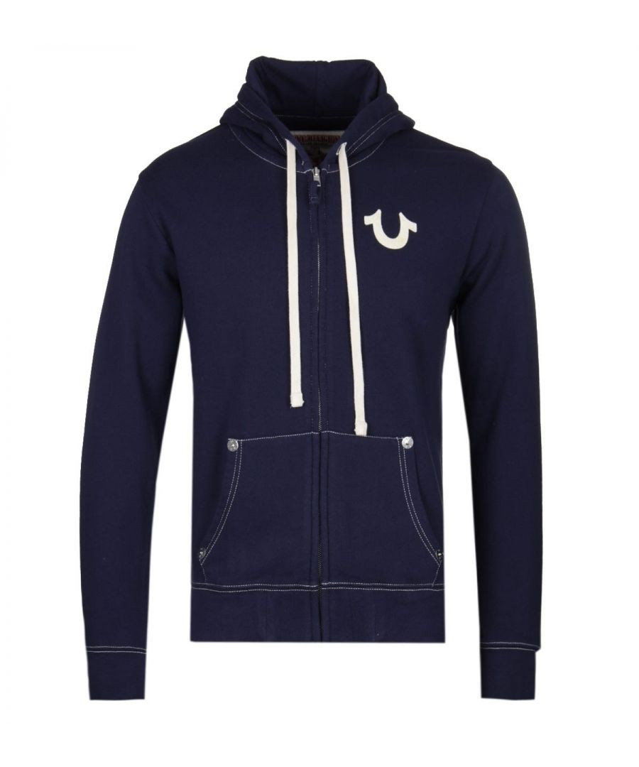 Image for True Religion Navy Zip Hoodie