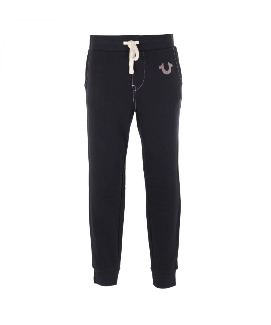 Image for True Religion Classic Logo Black Sweatpants