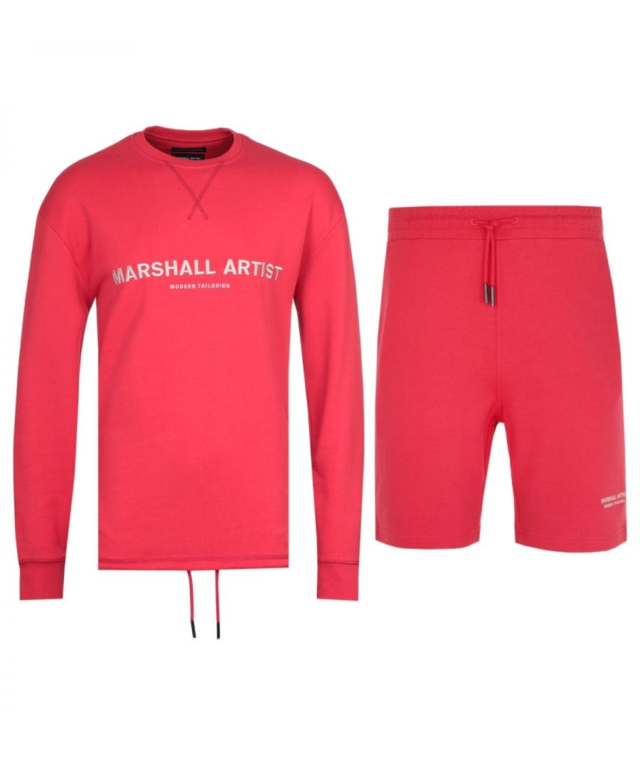 Image for Marshall Artist Non Anth Sweatshirt & Shorts Red Tracksuit
