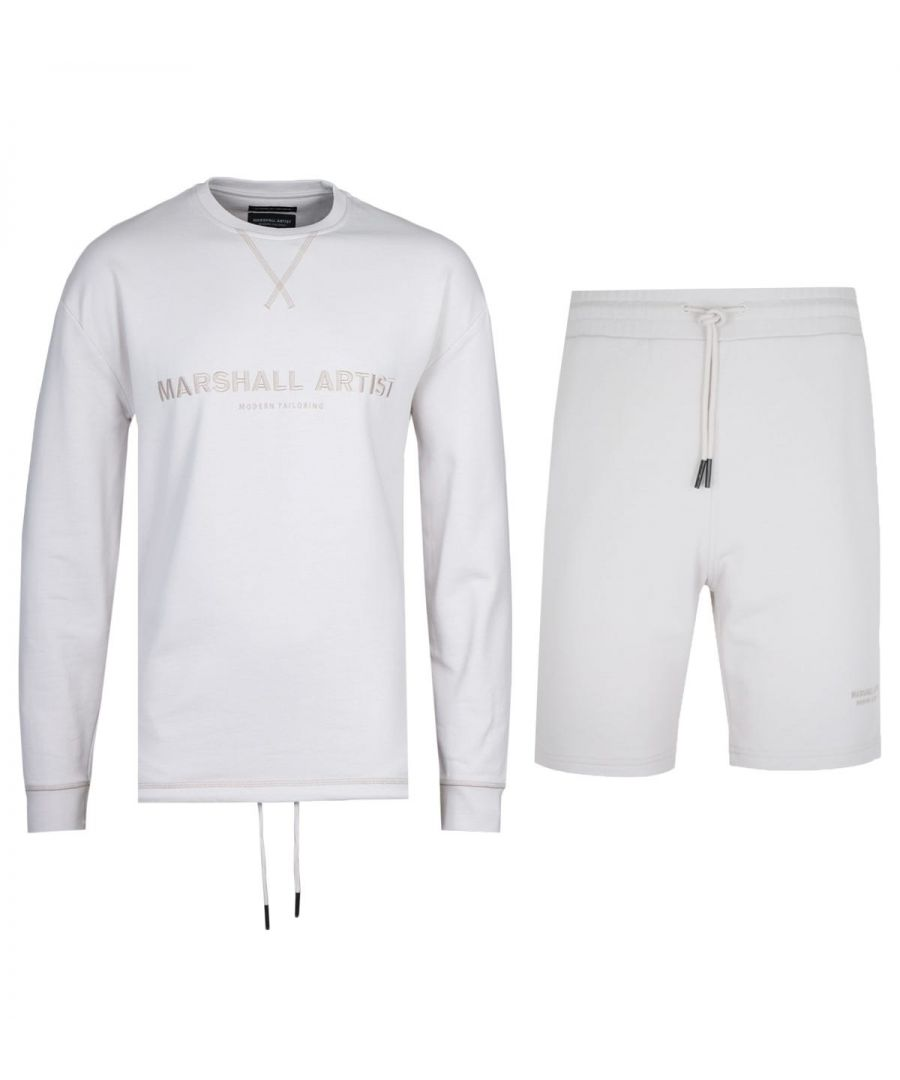 Image for Marshall Artist Non Anth Sweatshirt & Shorts Stone Tracksuit