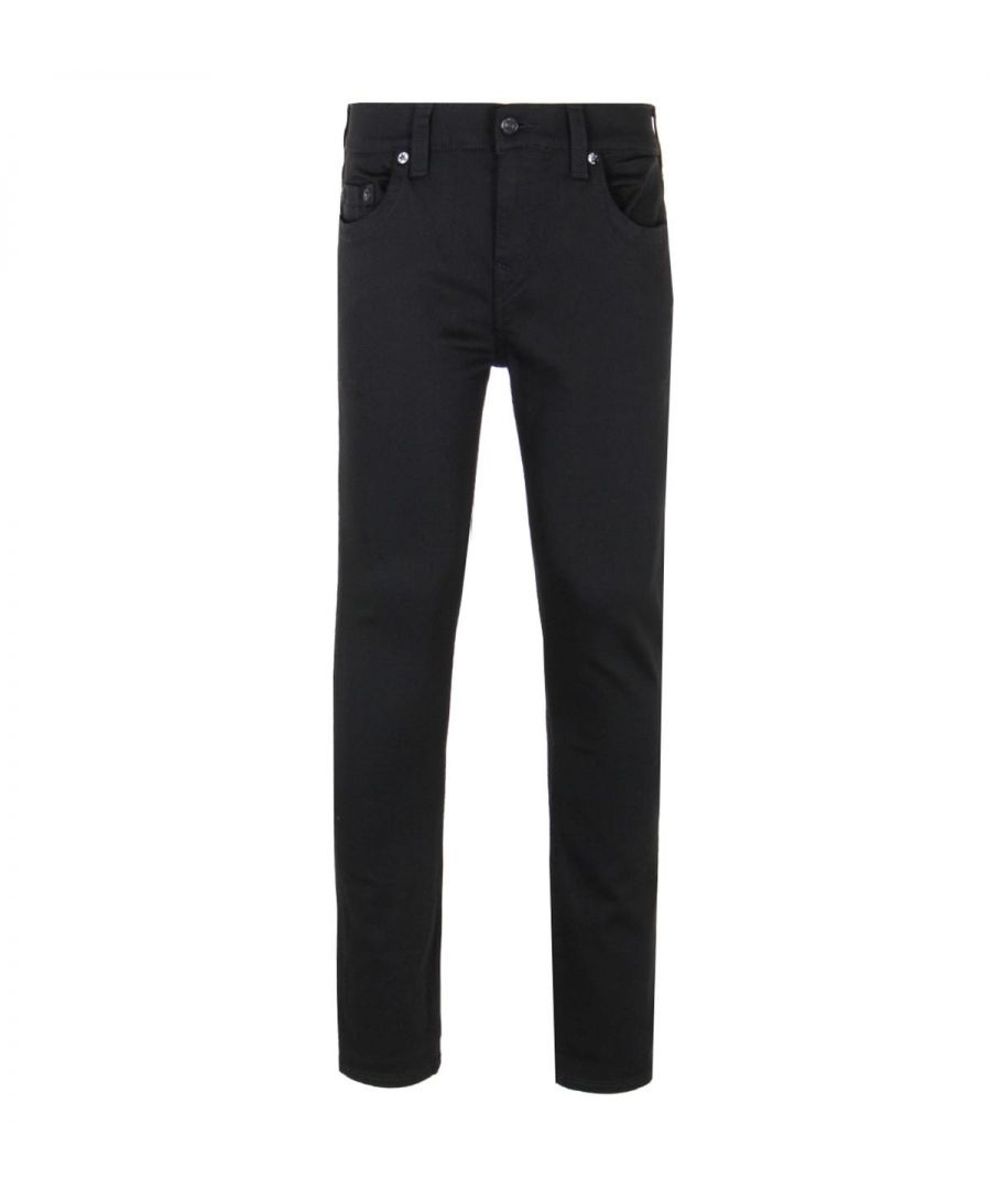 Image for True Religion Black Rocco Relaxed Skinny Fit Jeans