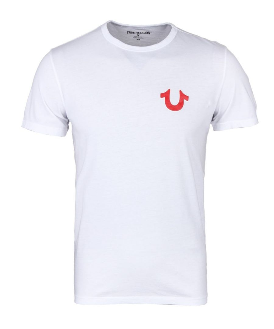 Image for True Religion Double Puff Crew Neck T-Shirt - Optic White