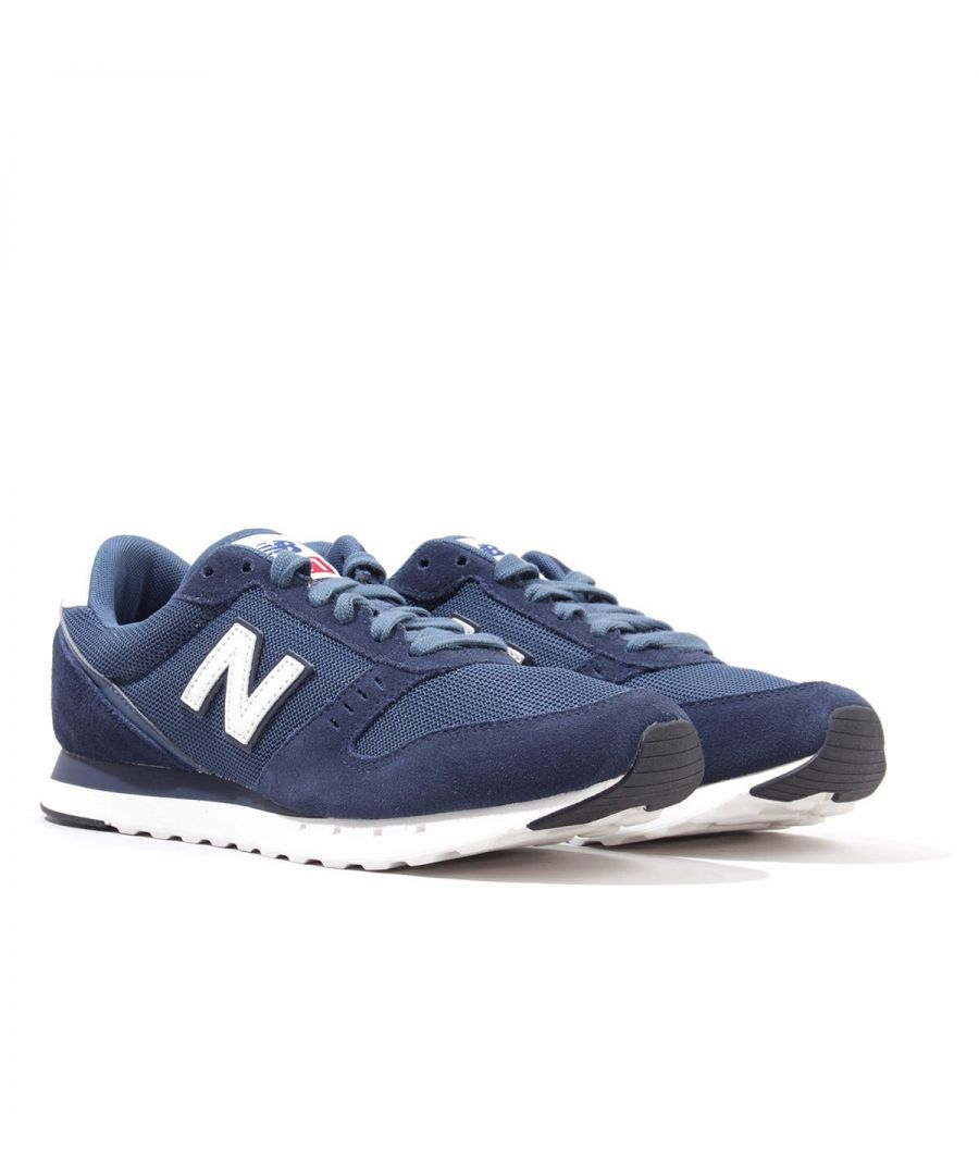 Image for New Balance 311v2 Suede Trainers - Natural Indigo with Stone Blue