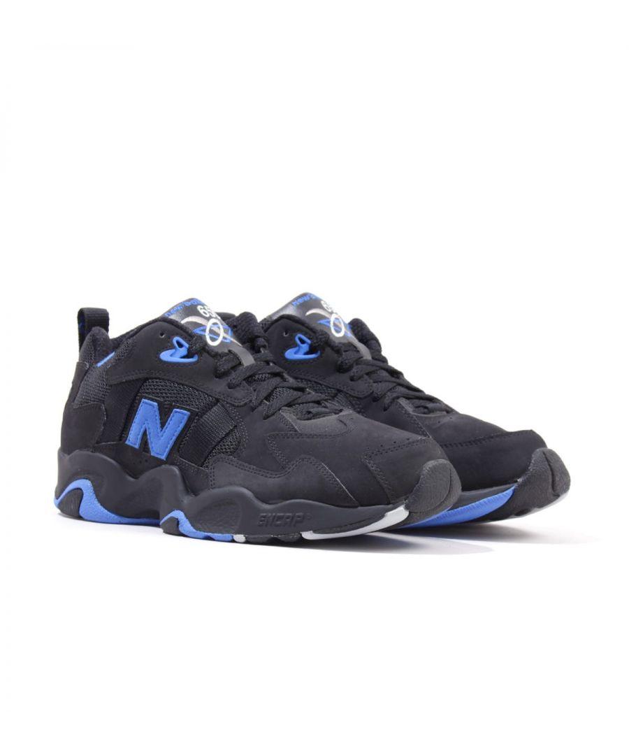 Image for New Balance 650 Cross Training Shoes - Black & Blue