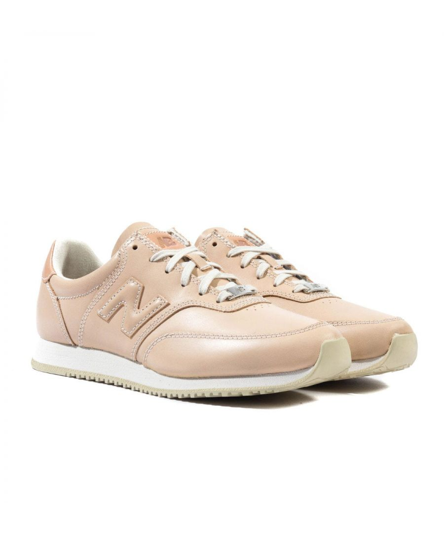 Image for New Balance MLC100 Nude Leather Trainers
