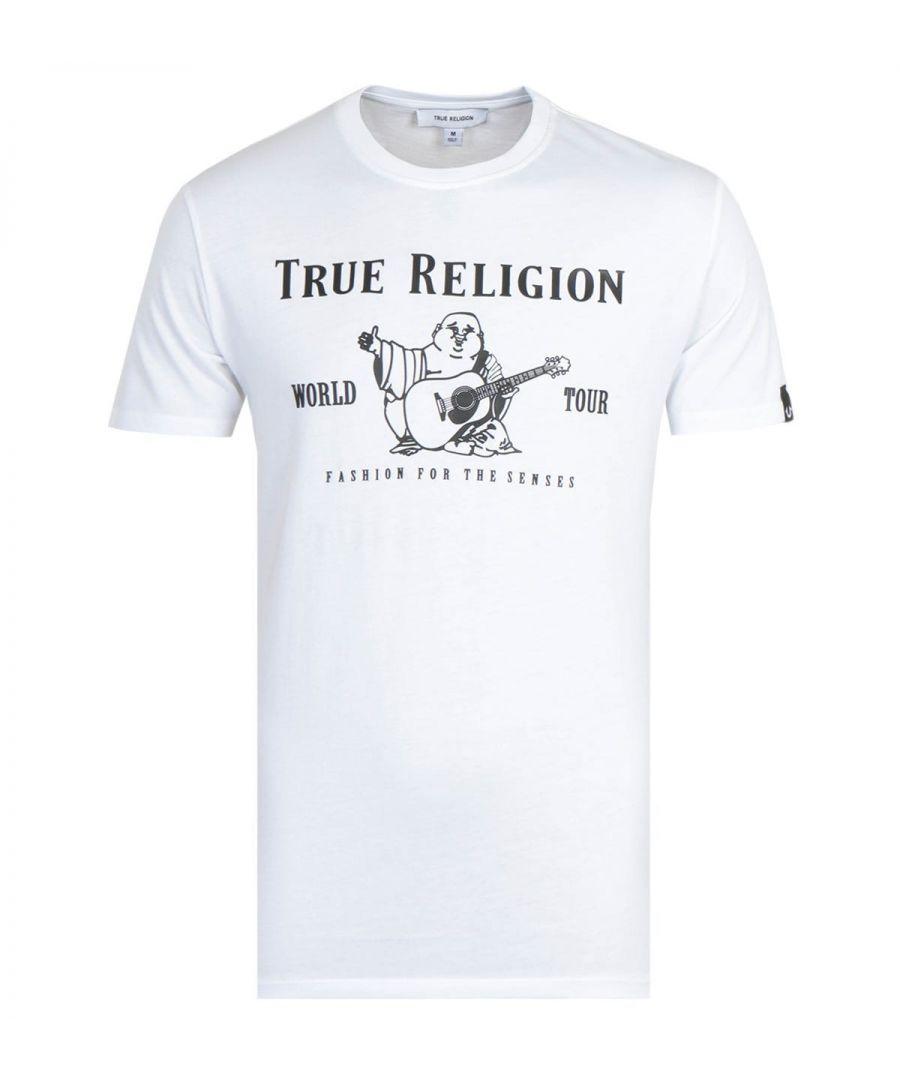 Image for True Religion Rubber Buddha Print T-Shirt - White