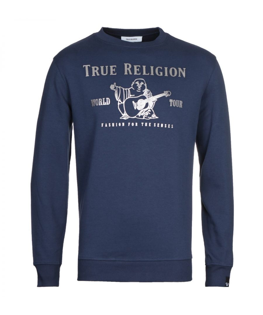 Image for True Religion Chad Core Sweatshirt - Navy