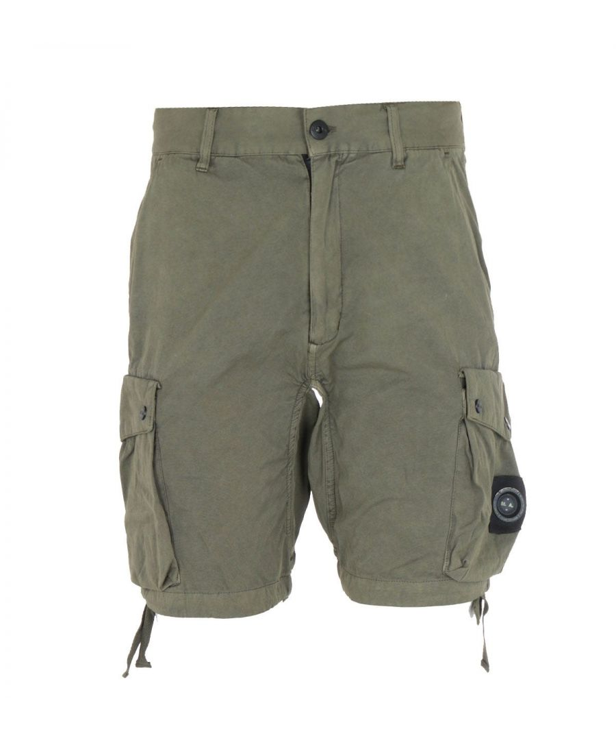 Image for Marshall Artist Garment Dyed Khaki Cotton Shorts