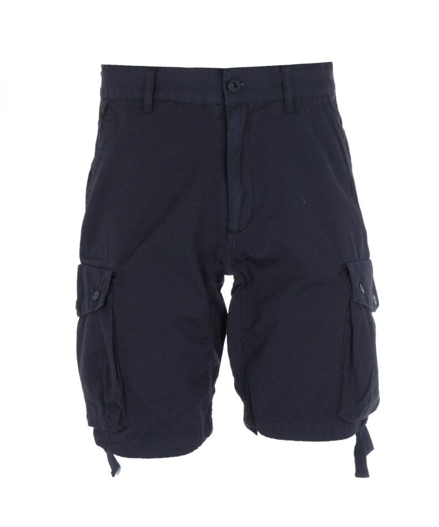 Image for Marshall Artist Garment Dyed Navy Cotton Shorts