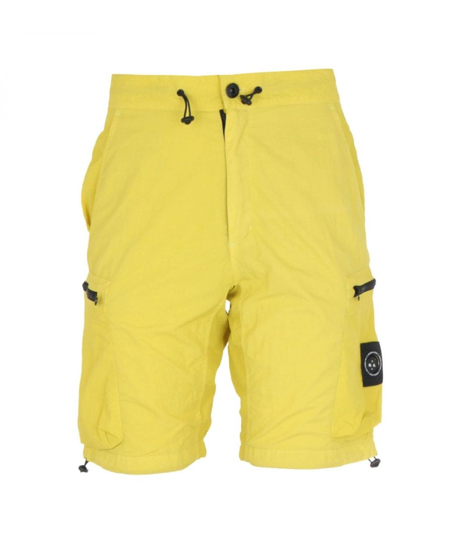 Image for Marshall Artist Garment Dyed Sulphur Yellow Cargo Shorts
