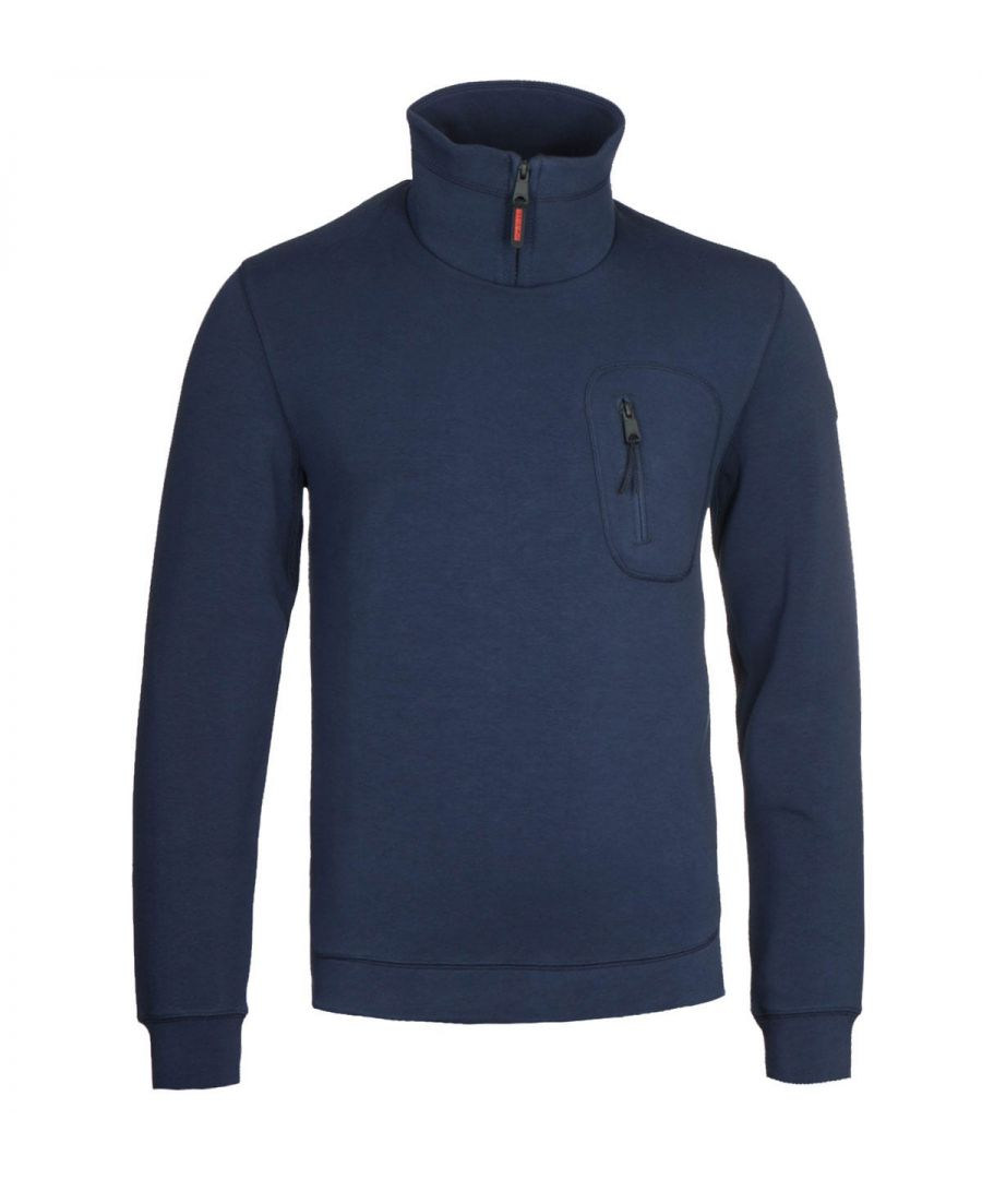 Image for Napapijri Bible Medieval Blue Funnel Neck Sweatshirt
