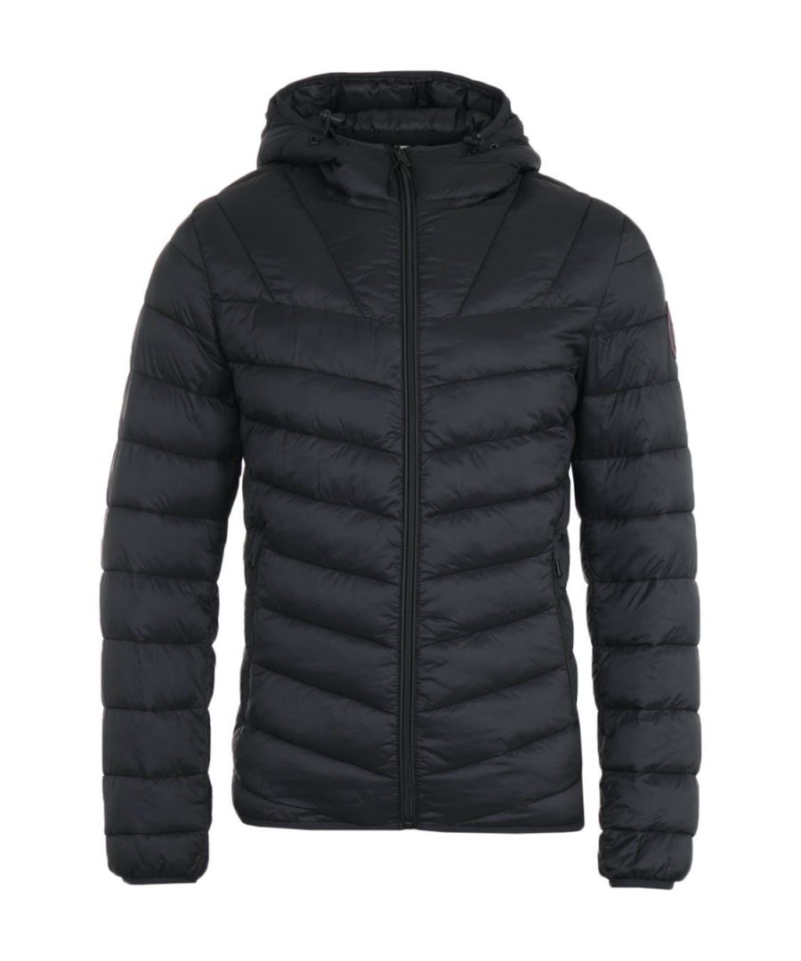 Image for Napapijri Aerons Black Short Hooded Jacket