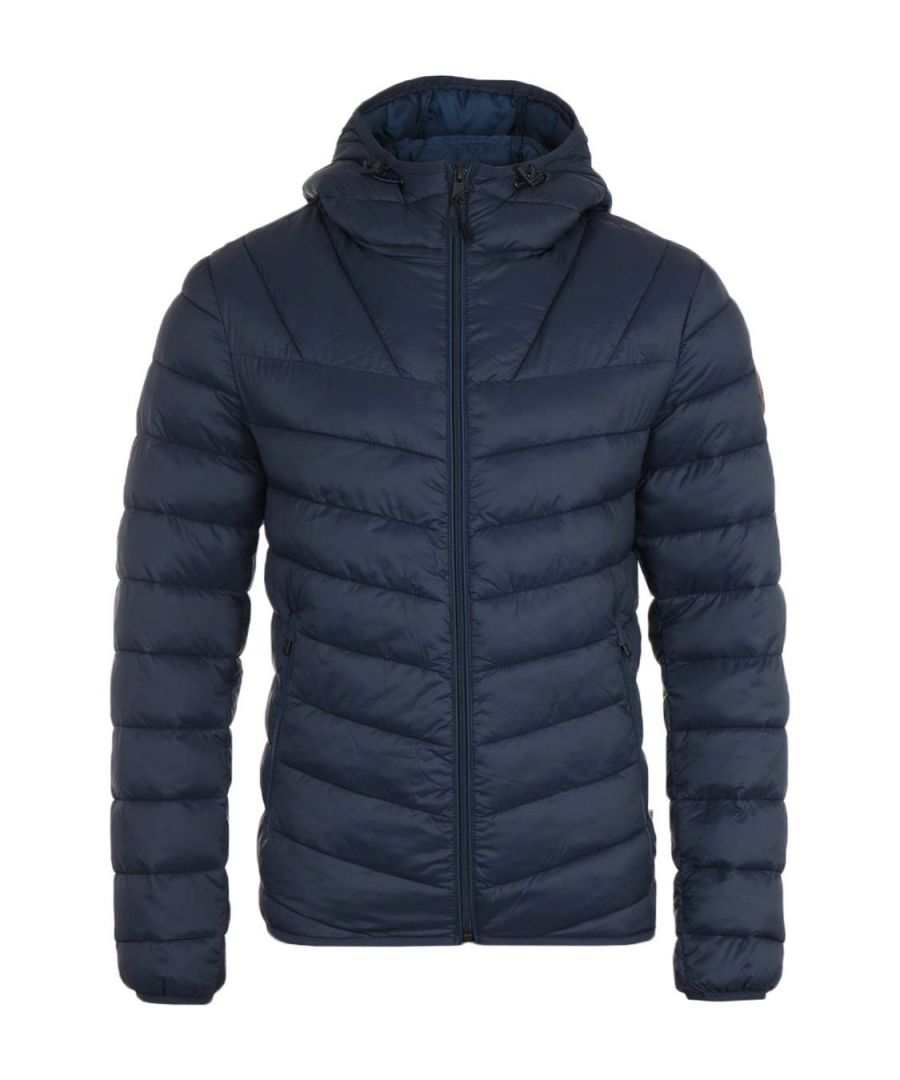 Image for Napapijri Aerons Blue Marine Short Hooded Jacket