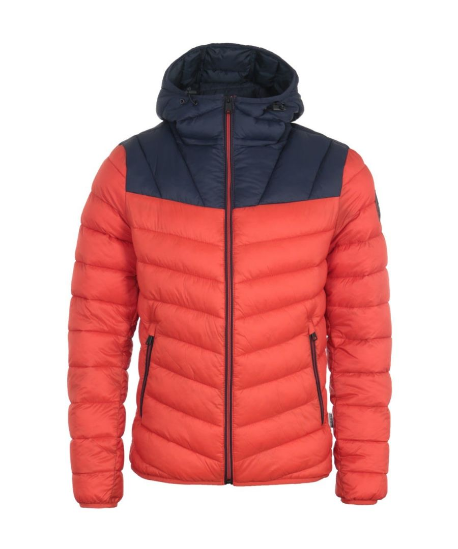 Image for Napapijri Aeron Puffer Hooded Jacket - Orange