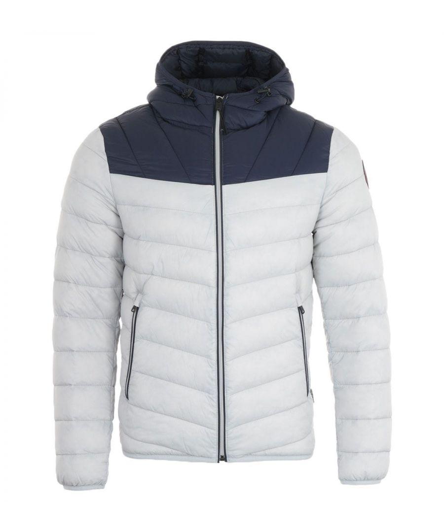 Image for Napapijri Aerons Puffer Hooded Jacket - Grey