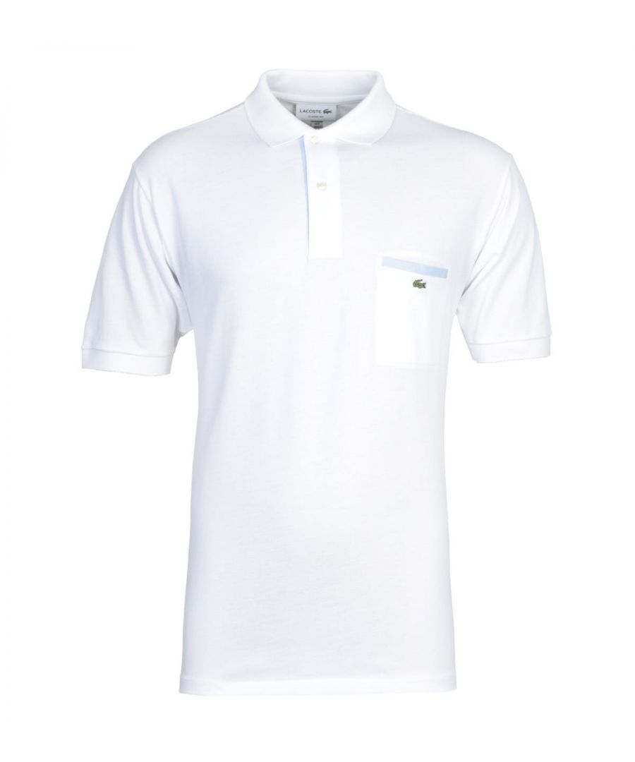Image for Lacoste White MC Homme Polo Shirt