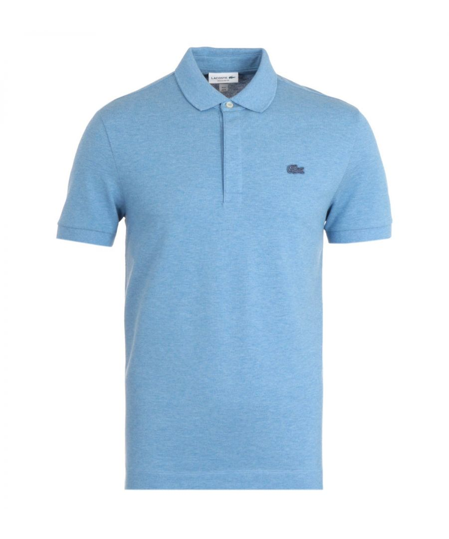 Image for Lacoste Paris Stretch Cotton Blue Polo Shirt