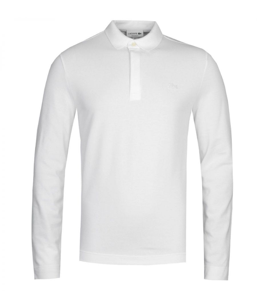 Image for Lacoste ML Homme White Long Sleeve Polo Shirt