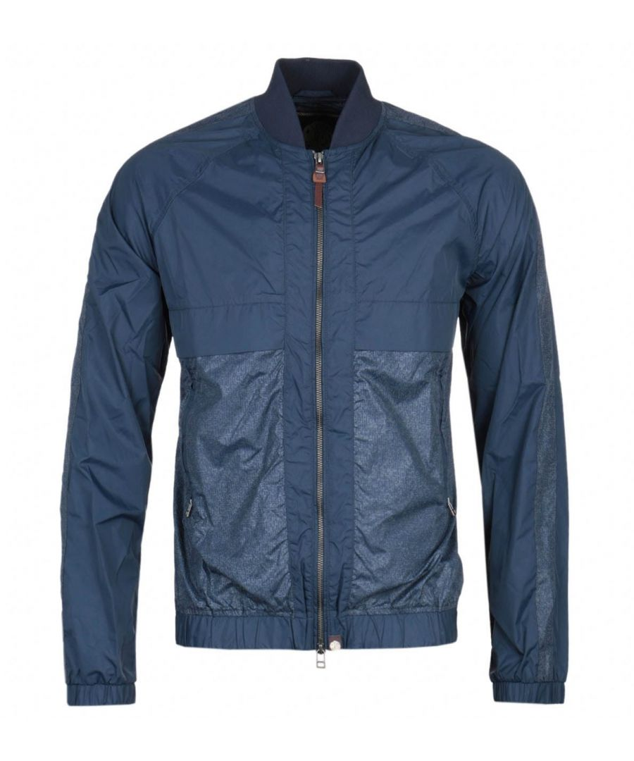 Image for Pretty Green Navy Reflective Bomber Jacket