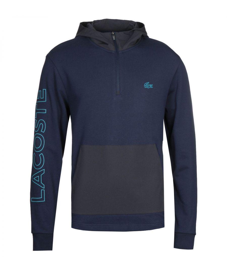 Image for Lacoste Navy Quarter Zip Sweatshirt