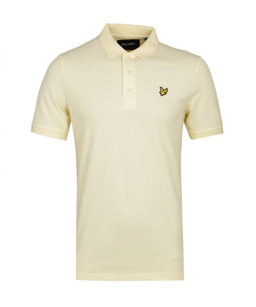 Image for Lyle & Scott Butter Yellow Pique Polo Shirt