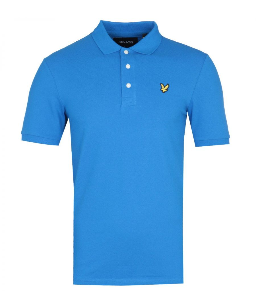 Image for Lyle & Scott Slim Stretch Bright Cobalt Blue Polo Shirt