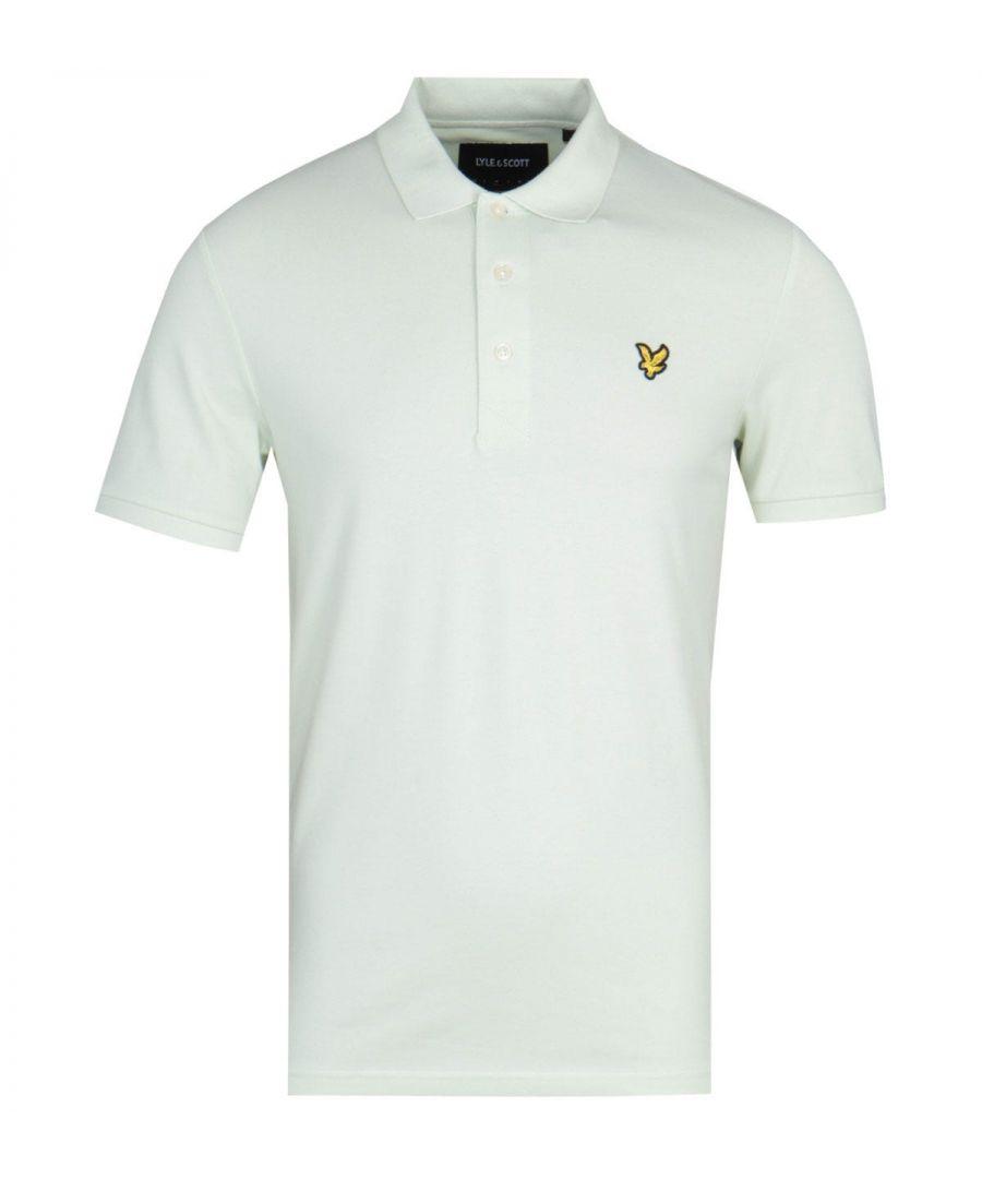 Image for Lyle & Scott Slim Stretch Cloud Mint Polo Shirt