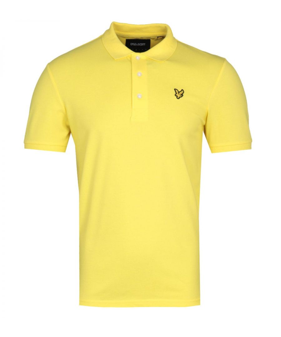 Image for Lyle & Scott Slim Stretch Buttercup Yellow Polo Shirt