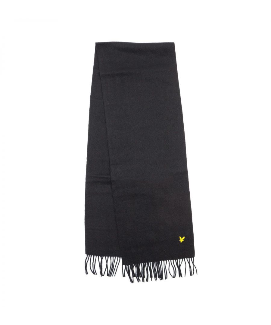Image for Lyle & Scott Lambswool Scarf - Black
