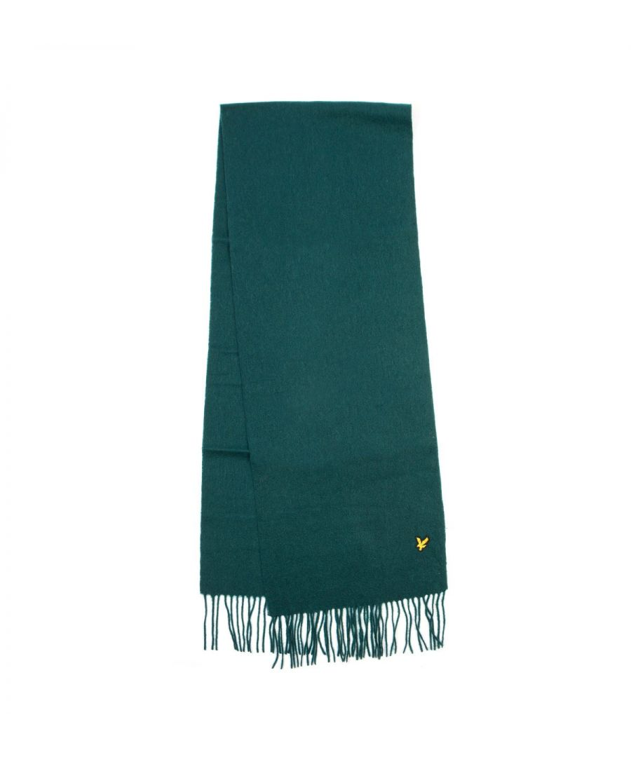 Image for Lyle & Scott Lambswool Scarf - Jade Green