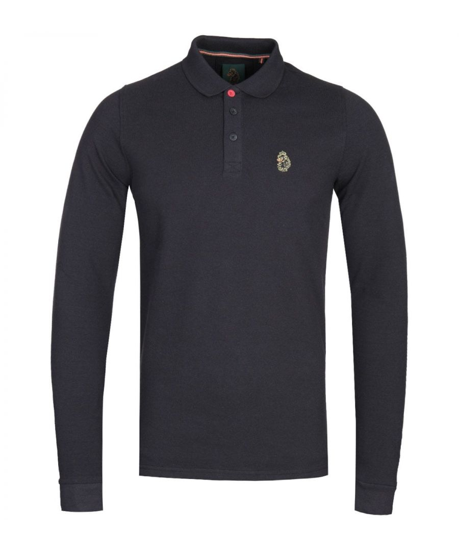 Image for LUKE 1977 Williams Black Long Sleeve Pique Polo Shirt
