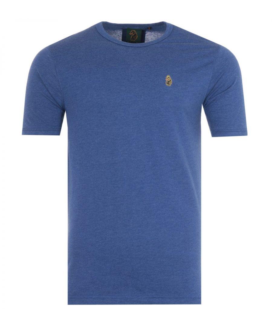 Image for Luke 1977 Traff Short Sleeve T-Shirt - Marl Cobalt