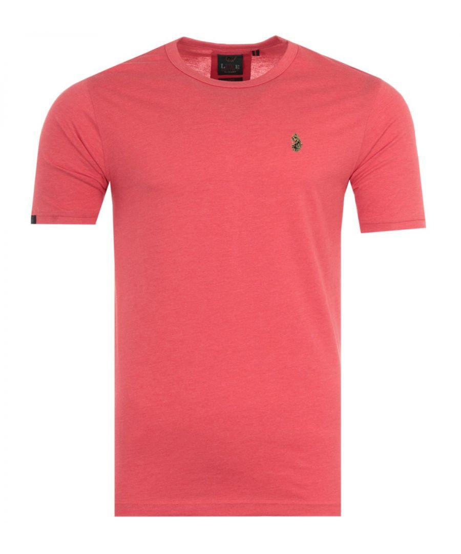 Image for Luke 1977 Traff Short Sleeve T-Shirt - Marl Peach